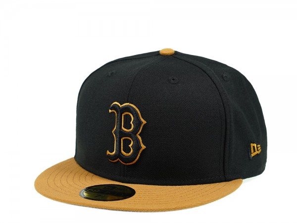 New Era Boston Red Sox Black Panama Tan Edition 59Fifty Fitted Cap