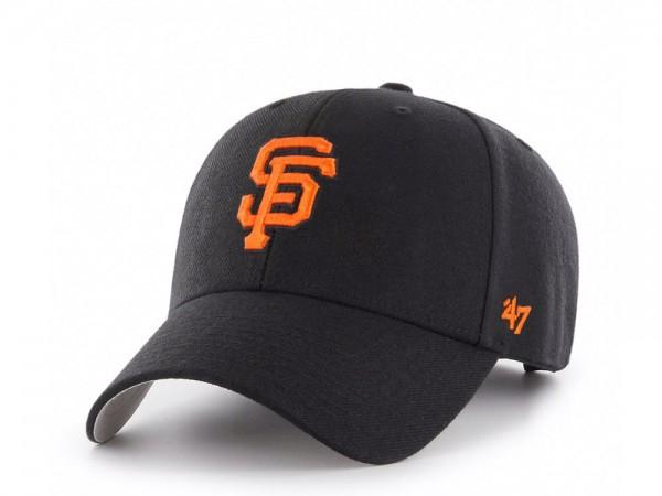 47Brand San Francisco Giants Black MVP Snapback Cap