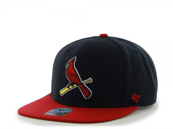 47Brand St. Louis Cardinals Sure Shot Captain Two Tone Navy Snapback Cap
