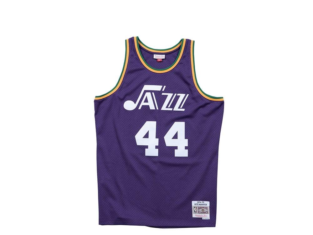 top fashion 430b4 c663f Mitchell & Ness Utah Jazz - Pete Maravich Swingman Jersey lila -XL