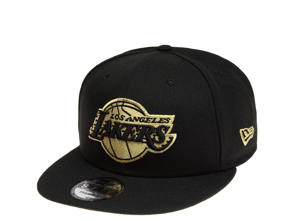 New Era Los Angeles Lakers All About Black And Gold 9fifty Snapback Cap Topperzstore Com