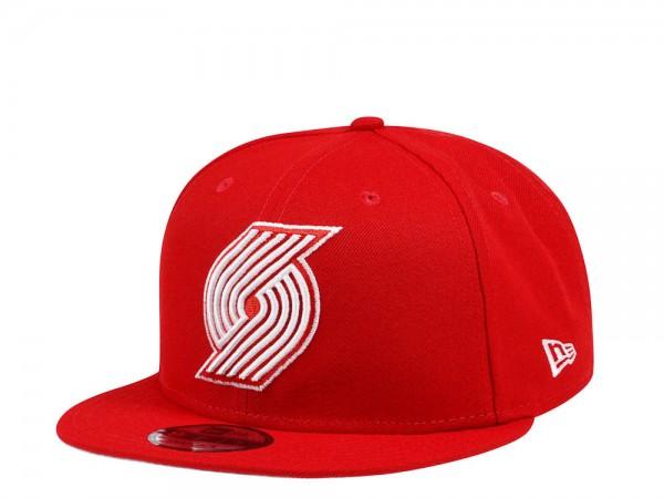 New Era Portland Trail Blazers Red Prime Edition 9Fifty Snapback Cap