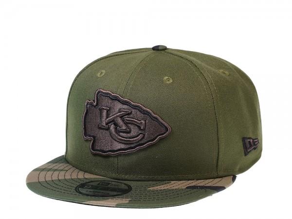 New Era Kansas City Chiefs Wood Camo 9Fifty Snapback Cap