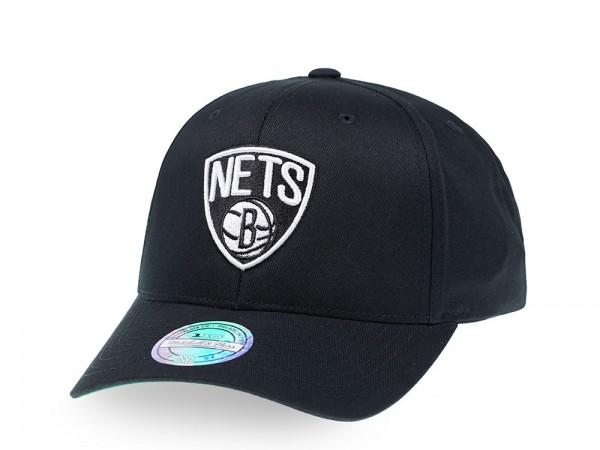 Mitchell & Ness Brooklyn Nets Simple Black 110 Flex Snapback Cap
