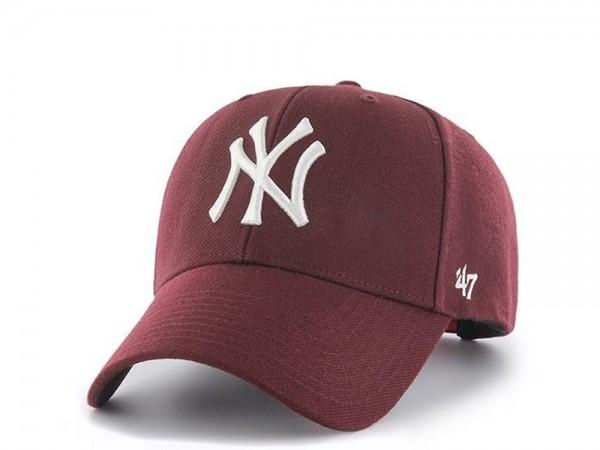 47brand New York Yankees Dark Maroon MVP Snapback Cap