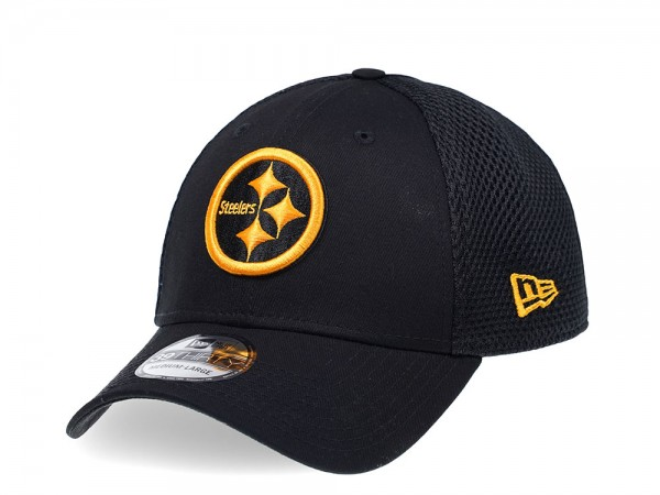 New Era Pittsburgh Steelers Curved Black Edition 39Thirty Stretch Cap