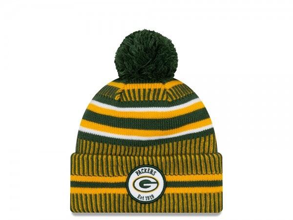 New Era Green Bay Packers Sideline 2019 Home Mütze